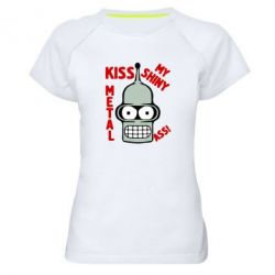 Женская спортивная футболка Kiss metal - FatLine