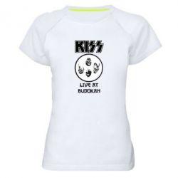 Женская спортивная футболка Kiss - FatLine