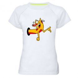 Женская спортивная футболка Кіт - FatLine