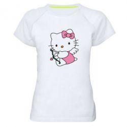 Женская спортивная футболка Kitty амурчик - FatLine