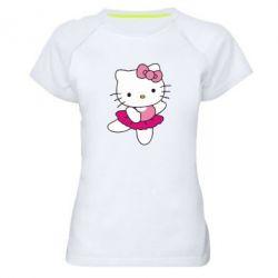 Женская спортивная футболка Kitty балярина - FatLine