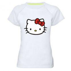 Женская спортивная футболка Kitty - FatLine
