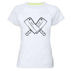 Женская спортивная футболка Knives - FatLine
