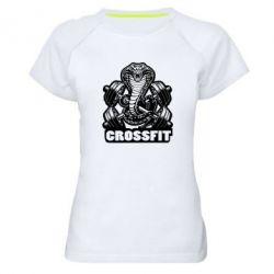 Женская спортивная футболка Кобра CrossFit - FatLine