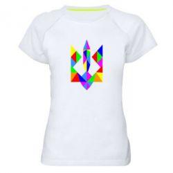 Женская спортивная футболка Кольоровий герб