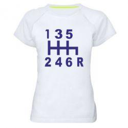 Женская спортивная футболка Коробка передач - FatLine