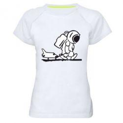 Женская спортивная футболка Космонавт - FatLine