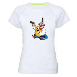 Женская спортивная футболка Козак с бандурой - FatLine