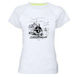 Женская спортивная футболка Козак та кінь - FatLine