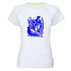Женская спортивная футболка Козак у камишу - FatLine