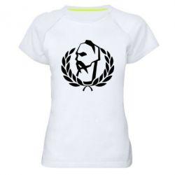Женская спортивная футболка Козак у вінку - FatLine