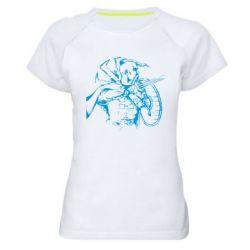 Женская спортивная футболка Козак з щитом - FatLine