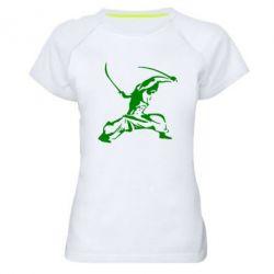 Женская спортивная футболка Козак з шаблями - FatLine