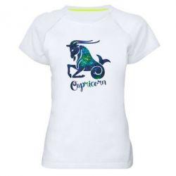 Женская спортивная футболка Козерог звезды