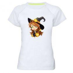 Женская спортивная футболка Красивая ведьма - FatLine