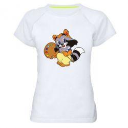 Купить Женская спортивная футболка Крошка Енот, FatLine