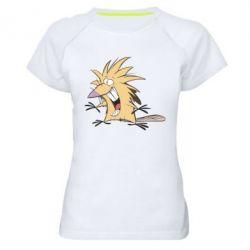 Женская спортивная футболка Крутые бобры - FatLine