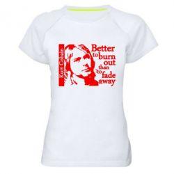 Женская спортивная футболка Kurt Cobain - FatLine