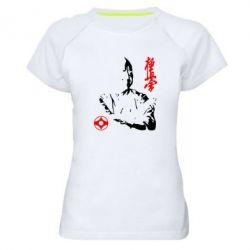 Женская спортивная футболка Kyokushin Kanku logo - FatLine