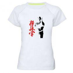 Женская спортивная футболка Kyokushin Kanku Master - FatLine