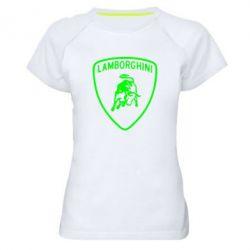 Женская спортивная футболка Lamborghini Auto - FatLine