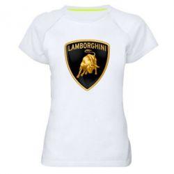 Женская спортивная футболка Lamborghini Logo - FatLine