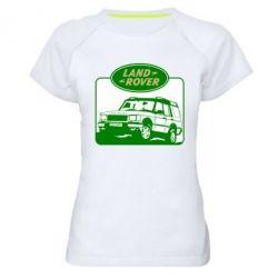 Женская спортивная футболка Land Rover - FatLine