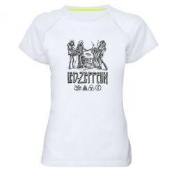 Женская спортивная футболка Led-Zeppelin Art