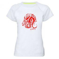 Женская спортивная футболка Leo (Лев) - FatLine