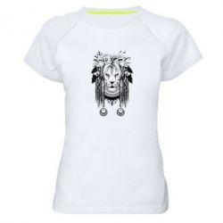 Жіноча спортивна футболка Лев Инди