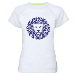 Женская спортивная футболка лев - FatLine