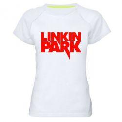 Женская спортивная футболка Линкин Парк - FatLine