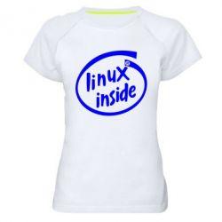 Женская спортивная футболка Linux Inside - FatLine
