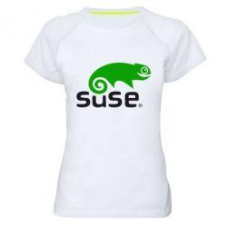 Женская спортивная футболка Linux Suse - FatLine