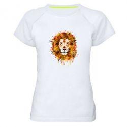 Женская спортивная футболка Lion Art - FatLine