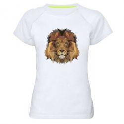 Женская спортивная футболка Lion Poly Art