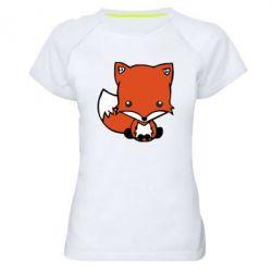 Женская спортивная футболка Лиса - FatLine