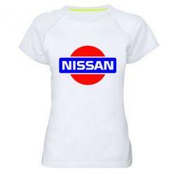 Женская спортивная футболка Logo Nissan - FatLine