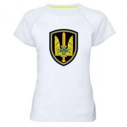 Женская спортивная футболка Логотип Азов - FatLine