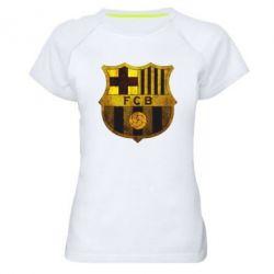 Женская спортивная футболка Логотип Барселоны - FatLine