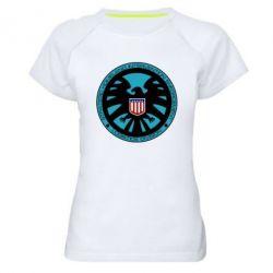 Женская спортивная футболка Логотип Щита - FatLine