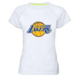 Женская спортивная футболка Los Angeles Lakers - FatLine