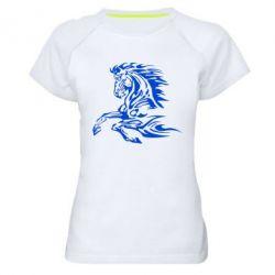 Женская спортивная футболка Лошадь - FatLine