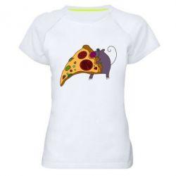 Женская спортивная футболка Love Pizza 2 - FatLine