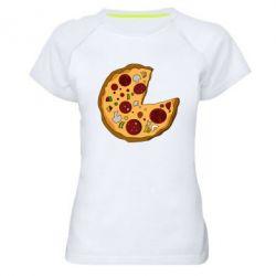 Женская спортивная футболка Love Pizza - FatLine