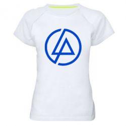 Женская спортивная футболка LP logo - FatLine