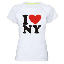 Женская спортивная футболка Люблю Нью Йорк - FatLine