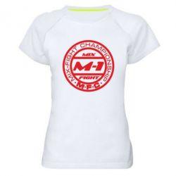 Женская спортивная футболка M-1 Logo - FatLine