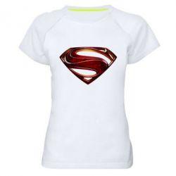 Женская спортивная футболка Man of Steel - FatLine