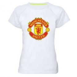 Женская спортивная футболка Манчестер Юнайтед - FatLine